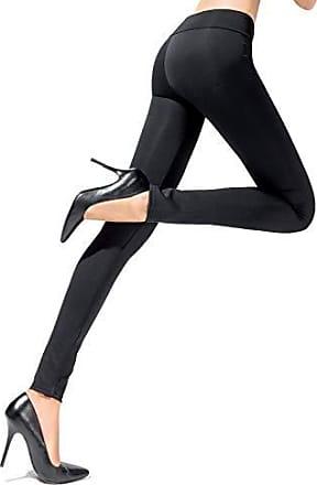 Leggings Knie Länge Viskose Elastan Schwarz Größen 34-50