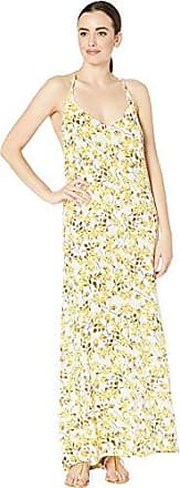 La Blanca Womens V-Neck Maxi Dress, Sunshine, S