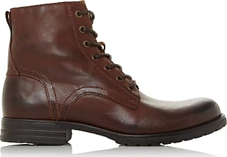 Dune London Dune Mens CARDIF Lace Up Boots Size UK 12 Brown Flat Heel Lace Up Boots