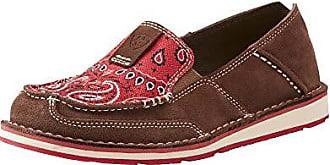 Ariat Ariat Womens Cruiser Slip-on Shoe, Palm Brown/Red Paisley Print, 5.5 B US