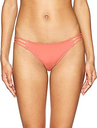 434bc1e5992 O'Neill Womens Salt Water Solids Multi Side Bikini Bottom Swimsuit, Coral  Punch,