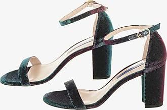 Stuart Weitzman Iridescent NEARLYNUDE Block Heel Sandals 8 cm size 37,5