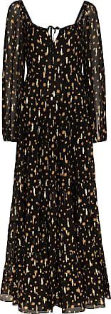 Rixo Cameron star print maxi dress - Black