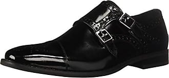 Stacy Adams Mens Tayton Cap Toe Double Monk Strap Loafer, Black, 9 M US