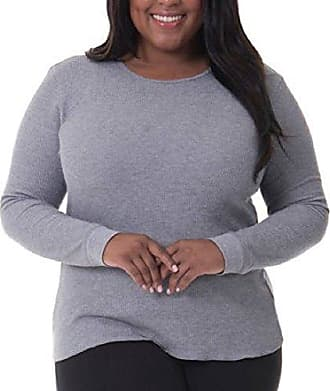 Fruit of the Loom Womens Plus Size Fit for Me Thermal Waffle Crew Top