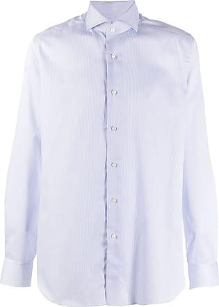 Xacus spread-collar pinstriped shirt - White