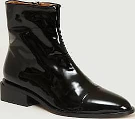 Robert Clergerie Schwarze Xaviere Lackstiefel aus Leder - leather   black   39 - Black/Black