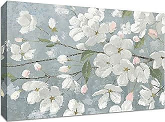 Tangletown Fine Art Spring Beautiful Gallery Wrap Canvas White/Gray