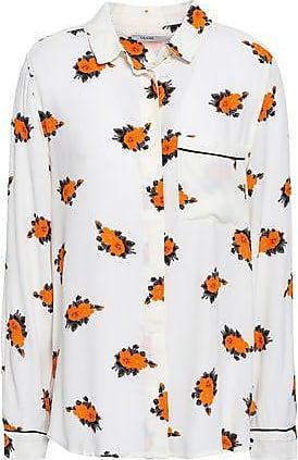 e4f22268 Ganni Ganni Woman Roseburg Printed Crepe De Chine Shirt Ivory Size 38