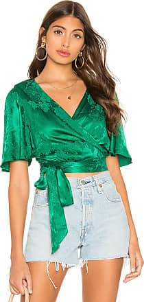 Tularosa Kelly Wrap Top in Green