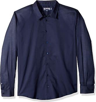 Vilebrequin Mens Cotton Voile Solid Shirt-XXXL, Navy
