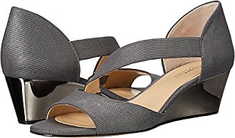 1b0cd7b0b0 Imagine Vince Camuto Womens JEFRE Wedge Sandal, Anthracite, 6 Medium US