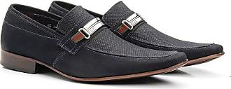 Di Lopes Shoes Sapato Masculino confeccionado em 100% Couro Social (41, Marinho)