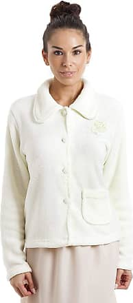 Camille Womens Soft Button and Zip Bed Jackets and Designs 18/20 Ivory
