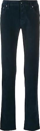 Jacob Cohen Navy blue velvet jeans