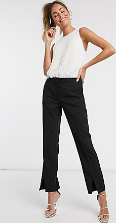Pimkie tailored trousers with split front in black