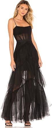 Bcbgmaxazria Corset Tulle Gown in Black