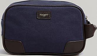 Hackett Lions Wash Bag | Navy/Brown | Cotton