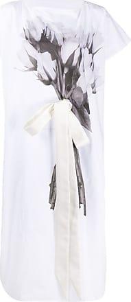 Maison Margiela Vestido com estampa de buquê - Branco