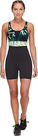 Body Glove Active Womens Pandora Performance Activewear Unitard Short, Areca Multi, Medium