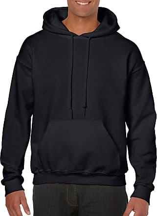 Gildan Mens Hooded Sweatshirt Shirt, Black, Medium
