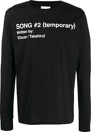 TAKAHIROMIYASHITA TheSoloist. Camiseta Song 2 mangas longas - Preto
