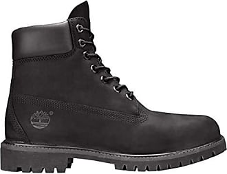 Timberland Mens 6 inch Premium Waterproof Boot, Black Nubuck, 9.5 W US