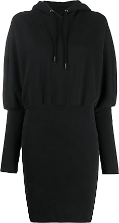 Opening Ceremony embroidered logo hooded dress - Black