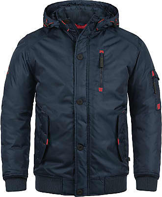 Solid Bettino Mens Winter Jacket Outdoor Jacket with Hood, Size:M, Colour:Insignia Blue (1991)