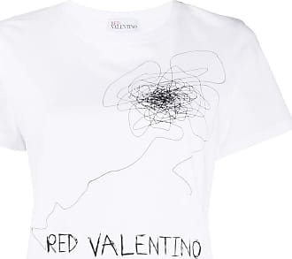 Red Valentino Camiseta de algodão com estampa - Branco