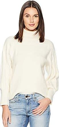 J.O.A. JOA Womens Turtleneck Sweater, Ivory, L