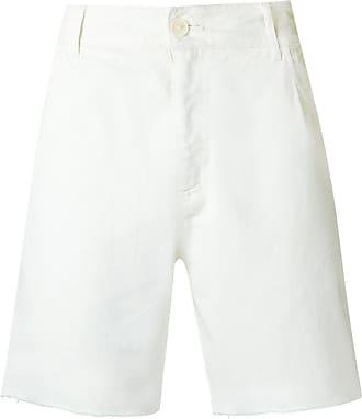 Amir Slama Shorts mit ungesäumten Kanten - Weiß