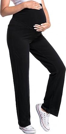 Zeta Ville Zeta Ville - Womens Pregnancy Pants. Available in 3 Leg Lengths - 691c (Medium Length Black, UK 16/18, 2XL)