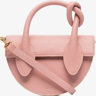 Yuzefi Womens Neutrals Pink Dolores Knot Leather Mini Bag