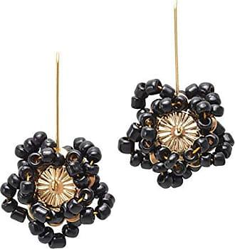 Tinna Jewelry Brinco Dourado Flor Estrela Miçanga (Prata Velha)