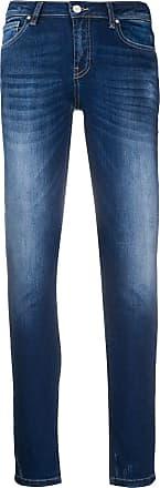Frankie Morello Calça jeans slim com patch de logo - Azul