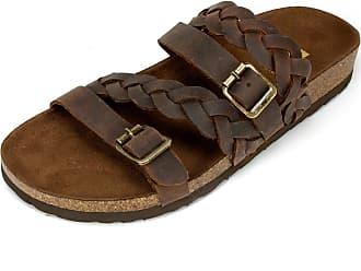 White Mountain Shoes Holland Womens Sandal, Brown - 7 M