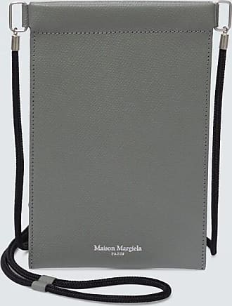 Maison Margiela Grainy embossed leather iPhone pouch