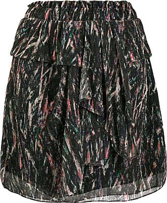 Iro abstract print tiered skirt - Black