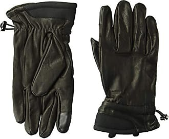 Kenneth Cole Reaction Mens 100% Leather Winter Gloves, black Extra Large