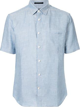 Durban Camisa com textura - Azul
