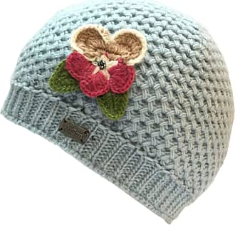 KuSan 100% Wool Beanie Hat with Detachable Flower Brooch Pin PK1809 Blue