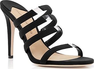 Tamara Mellon Slash Black Fabric Sandals, Size - 35.5