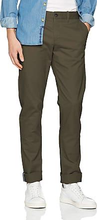 Original Penguin Mens P55 Chino Trousers, Green (Black Olive), W30/L32