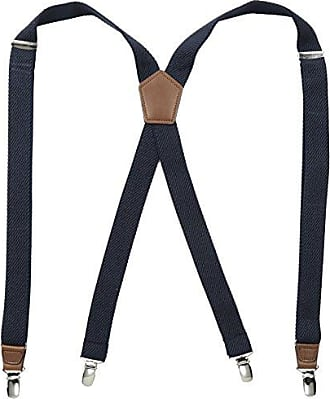 Dockers Pants Suspenders for Men - Heavy Duty Clips and X Back Adjustable Straps for Adults,Textured Navy,One sizee