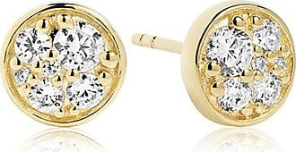 Sif Jakobs Jewellery Earrings Novara Piccolo - 18k gold plated with white zirconia