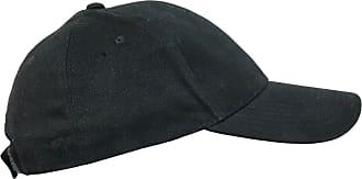 Generic Plain Cotton Baseball Cap | One Size Hat with Adjustable Strap Black