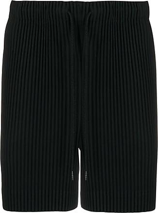 Homme Plissé Issey Miyake drawstring ribbed shorts - Black