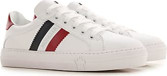 Moncler Sneakers for Women On Sale, White, Leather, 2019, 6 6.5 7 7.5