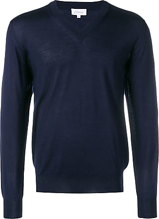 Brioni v-neck fine knit sweater - Azul
